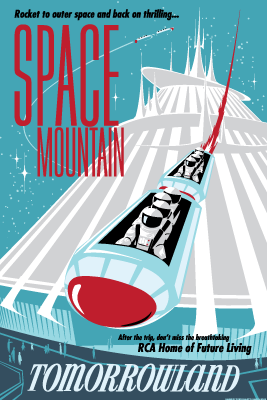 Faux Space Mountain Attraction Poster